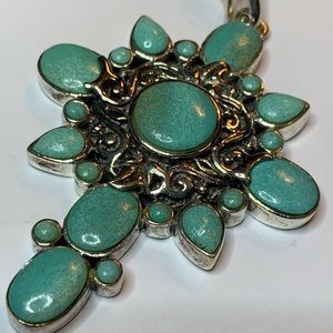 Studio Barse Sterling silver and turquoise pendant